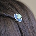 Shades of blue hairpins!