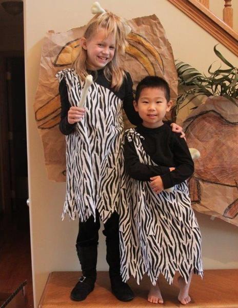 Caveman Outfit Ideas : Diy no sew caveman costumes the hood magazine