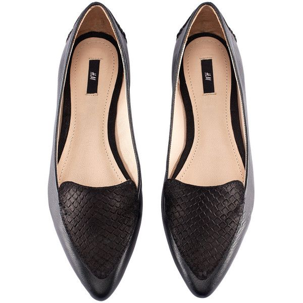 H\u0026M Leather loafers ($46) ❤ liked on