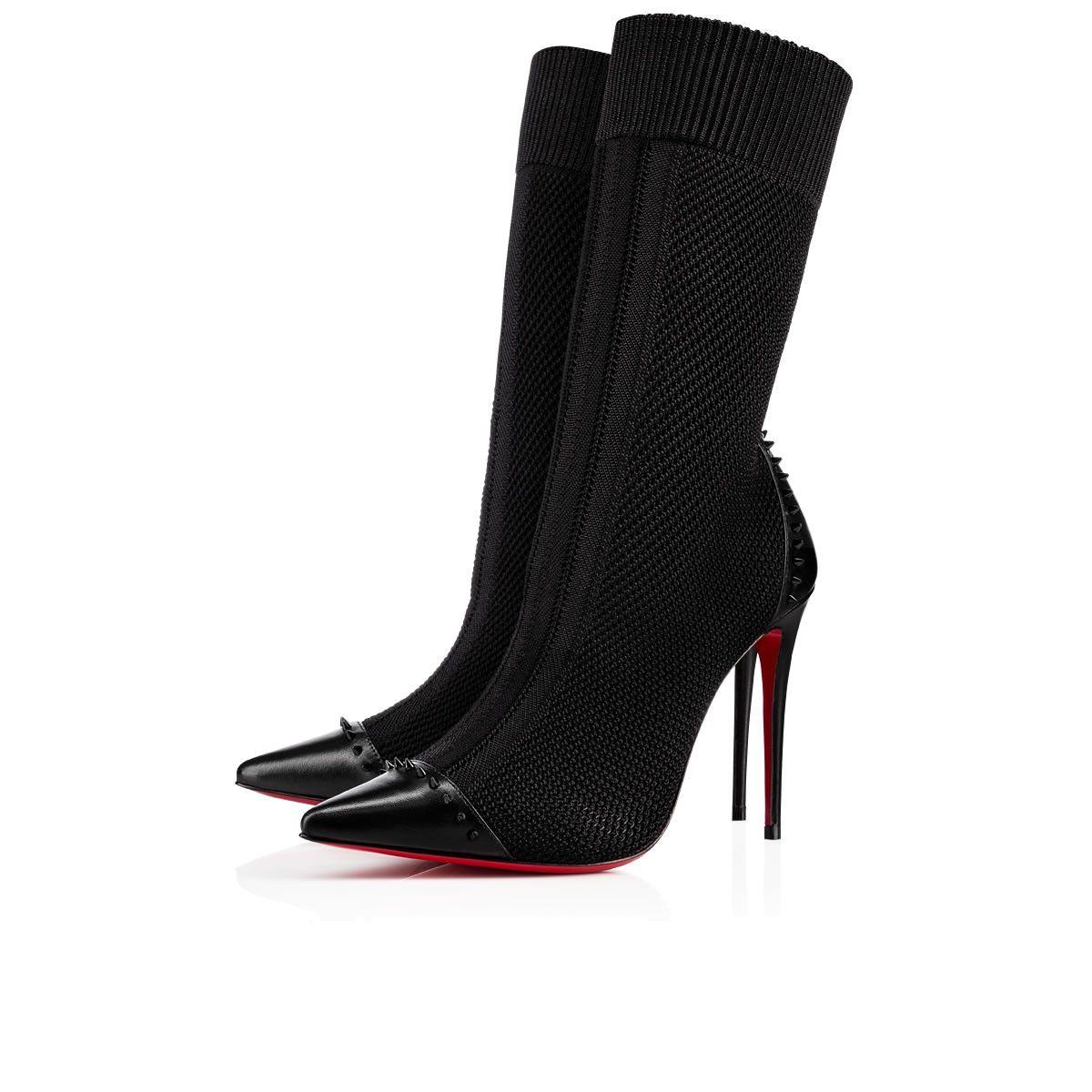 5d72c5184851 Dovi Dova 85 Black Cotton - Women Shoes - Christian Louboutin ...