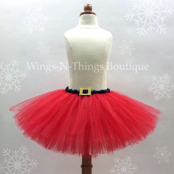 fef5c3b2a51ab ADULT SANTA TUTU Skirt, Christmas Costume, Red, Mrs. Claus, Holiday ...