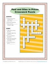 Paul And Silas In Prison Crossword Puzzle