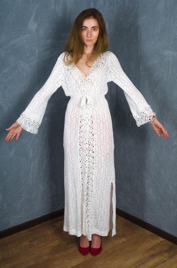 76349866fb5 Crochet white cardigan crochet lace dress long cardigan Maxi Summer Handmade  Beach Cardigan Crochet