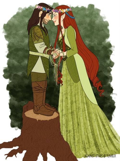 Elfa y Enano <3 | Middle Earth | Pinterest | Ilustraciones