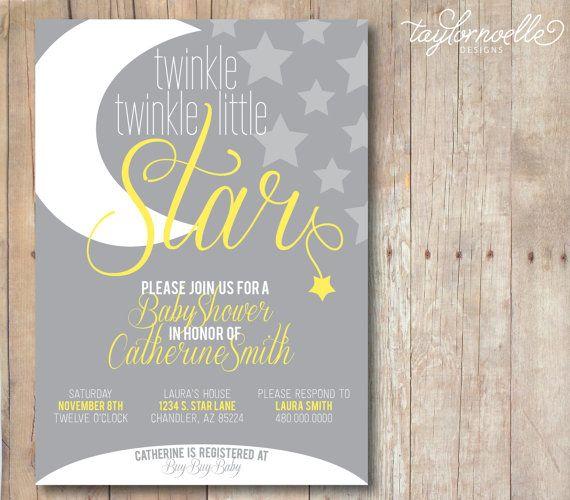 Twinkle Twinkle Little Star Baby Shower by TaylorNoelleDesigns