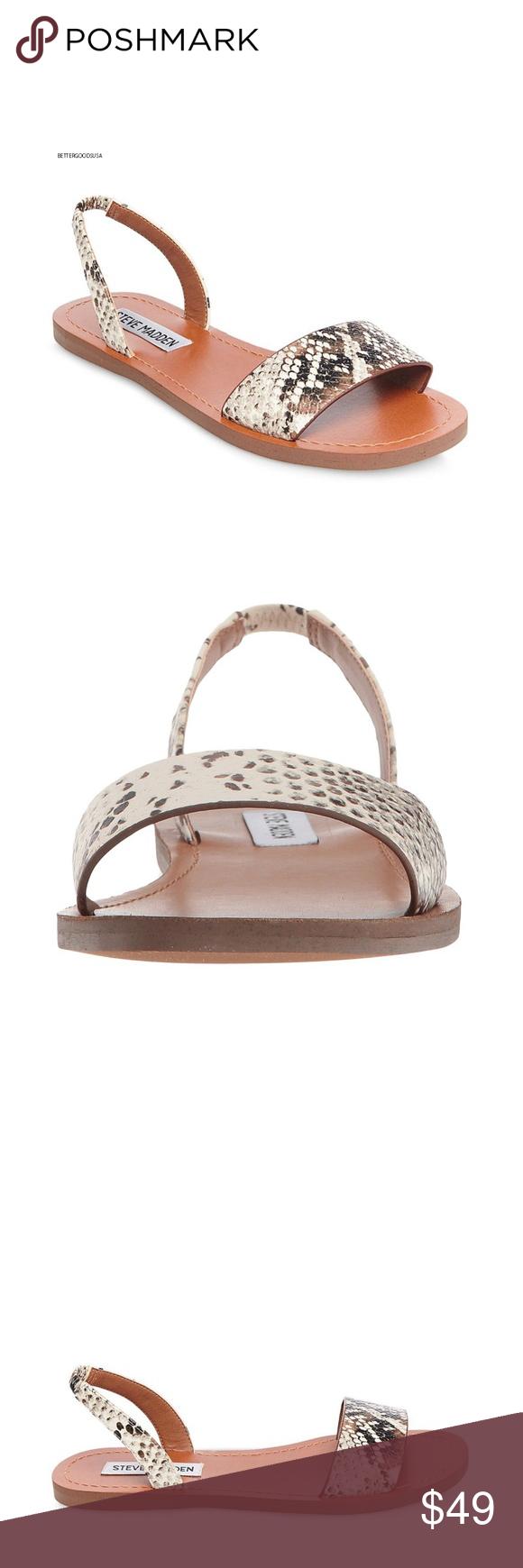 00812926477 Steve Madden Alina Slingback Sandals Snake 6.5 SIZE  USA 6.5 M