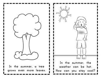 Weather and Seasons Change (SCIENCE) Emergent Reader for