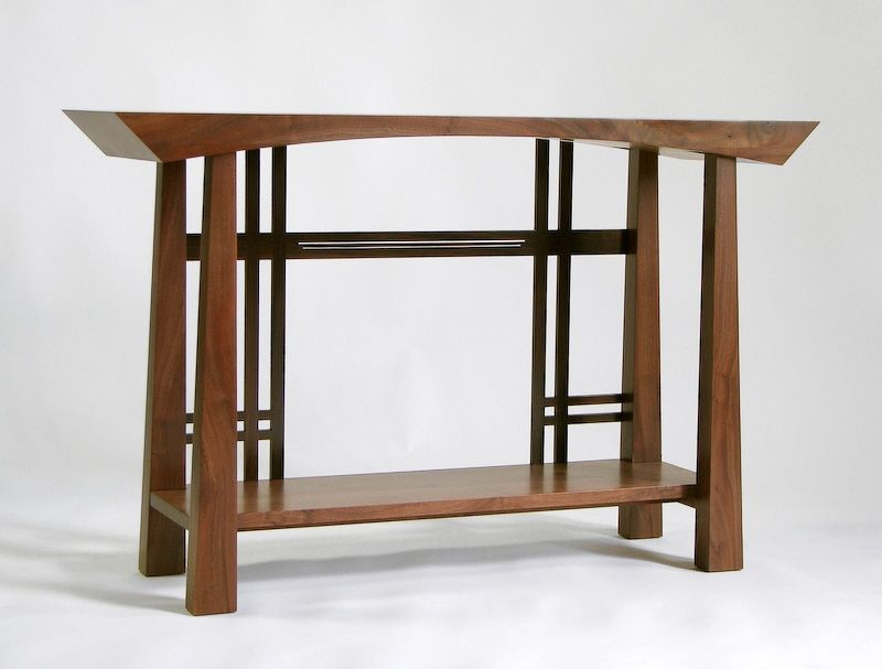 Masamune Japanese Style Custom Entry Table Asian Inspired Custom Table Designed By Franklin