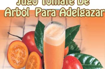 Jugo de tomate de arbol y rabano para adelgazar