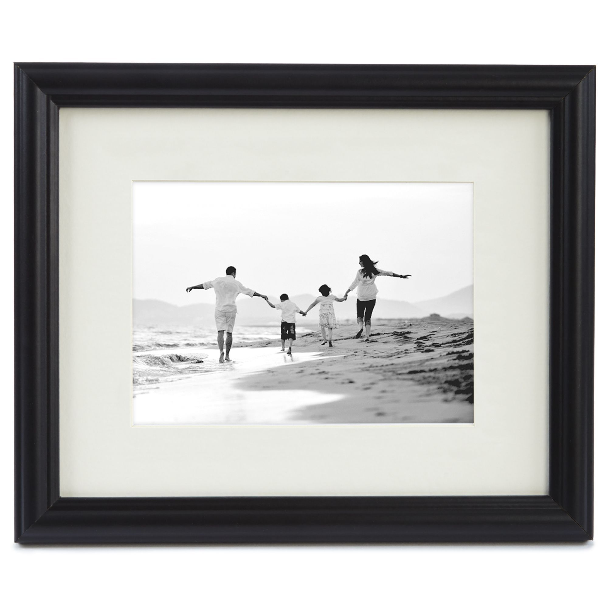 8-inch x 10-inch Wall or Tabletop Picture Frame Matted to Display ...