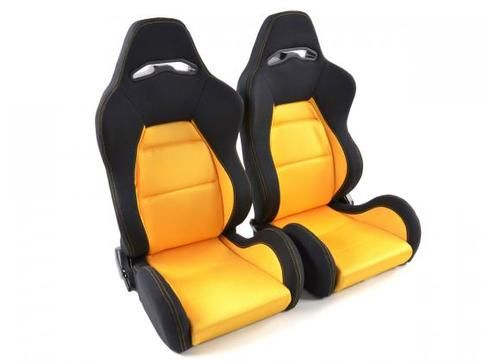 sporty seating position - racing look - Color: yellow/black - without  authorization - half bucket seat with Folding mech… | Yellow black, Sport  seats, Bmw x5 e53