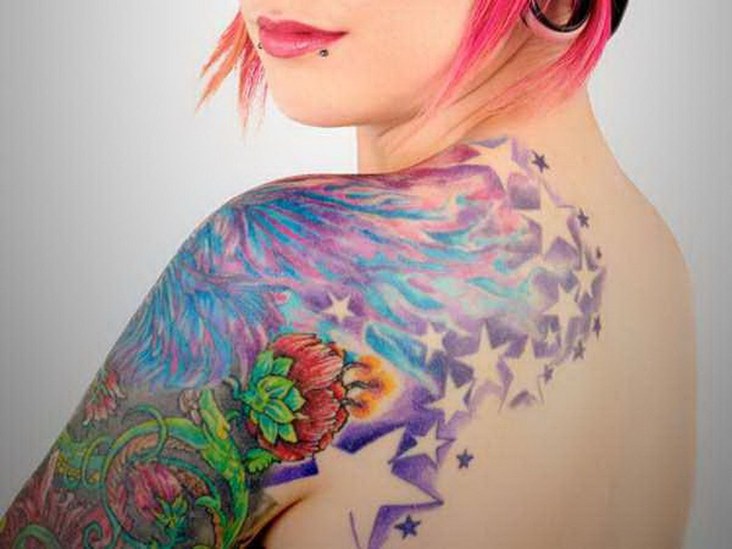 Arm Tattoo Ideas Women Shoulder Tattoos For Arms Colorful Upper