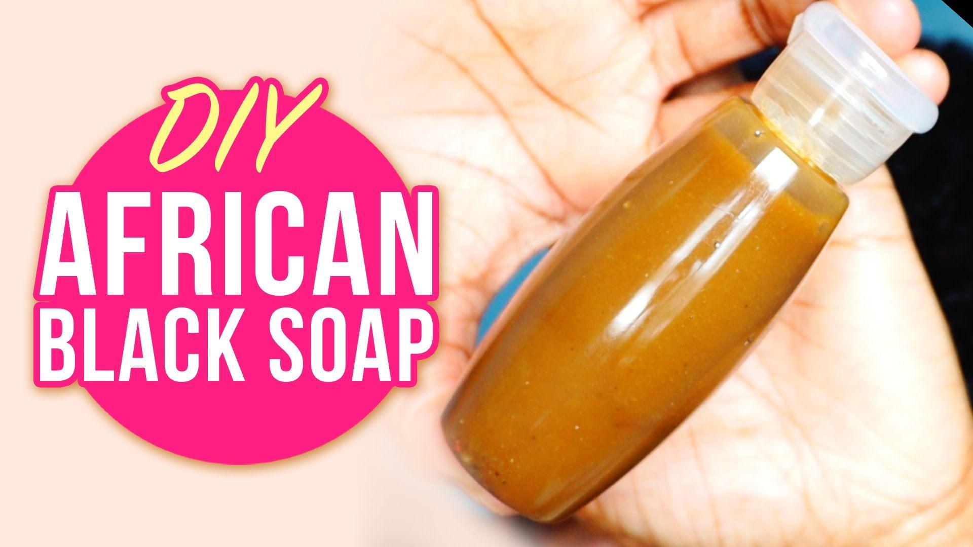 DIY African Black Liquid Soap For Natural Shampoo, Body