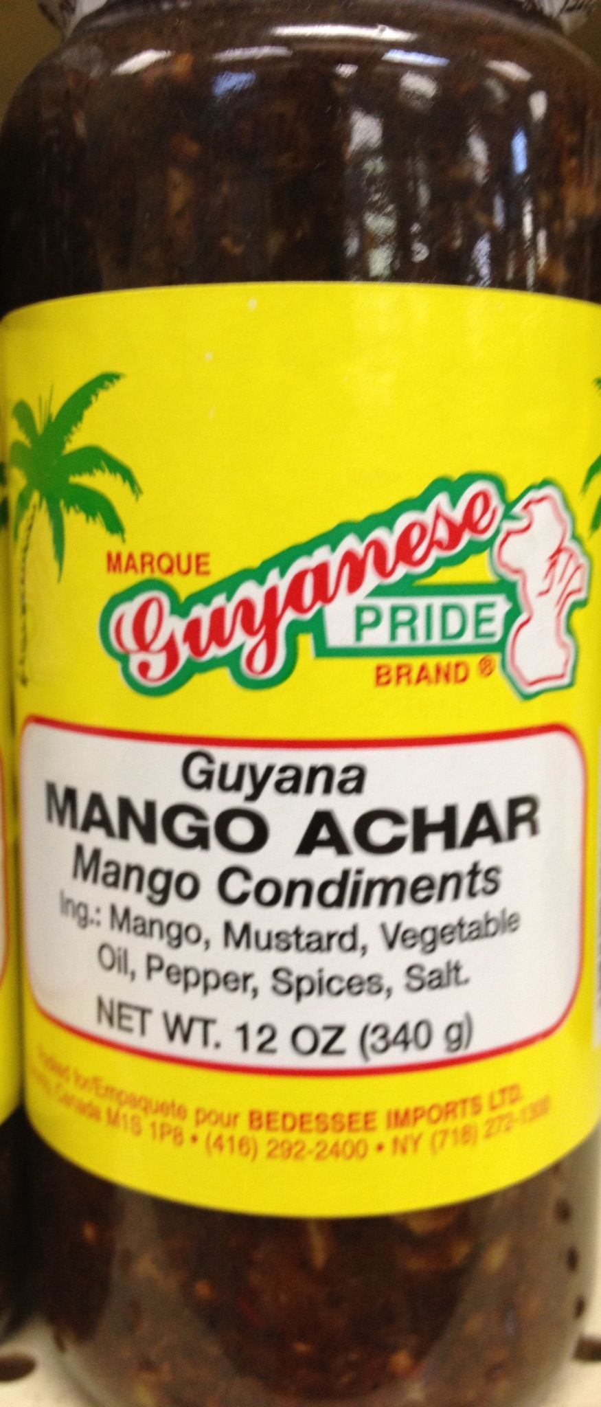 Mango Achar imported from Guyana. One of my favorite cooking ingredients.