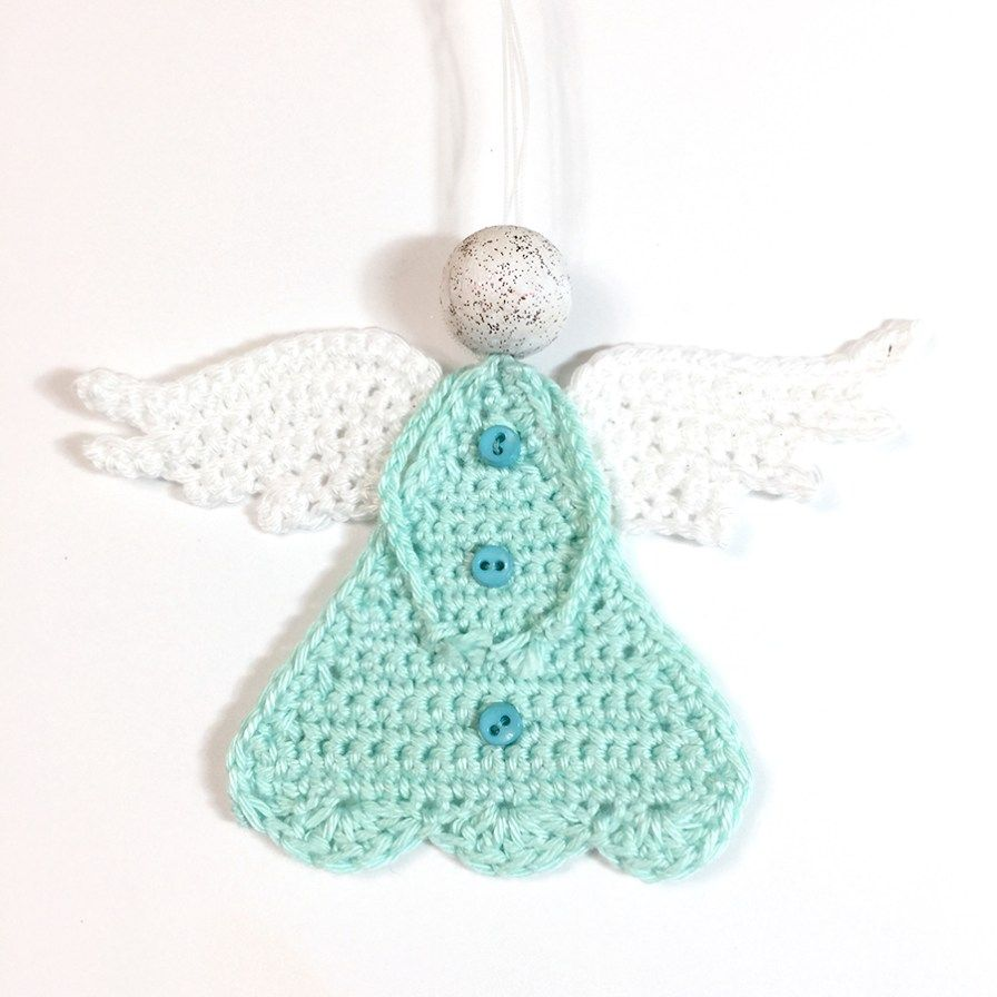 Beautiful Free Crochet Angel Pattern | Aplicaciones | Croché ...