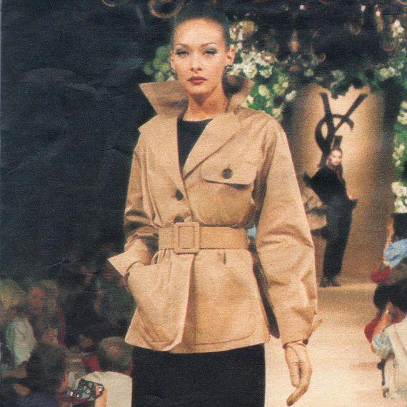 Yves Saint Laurent couture safari jacket and skirt pattern -- Vogue Paris  Original 1762