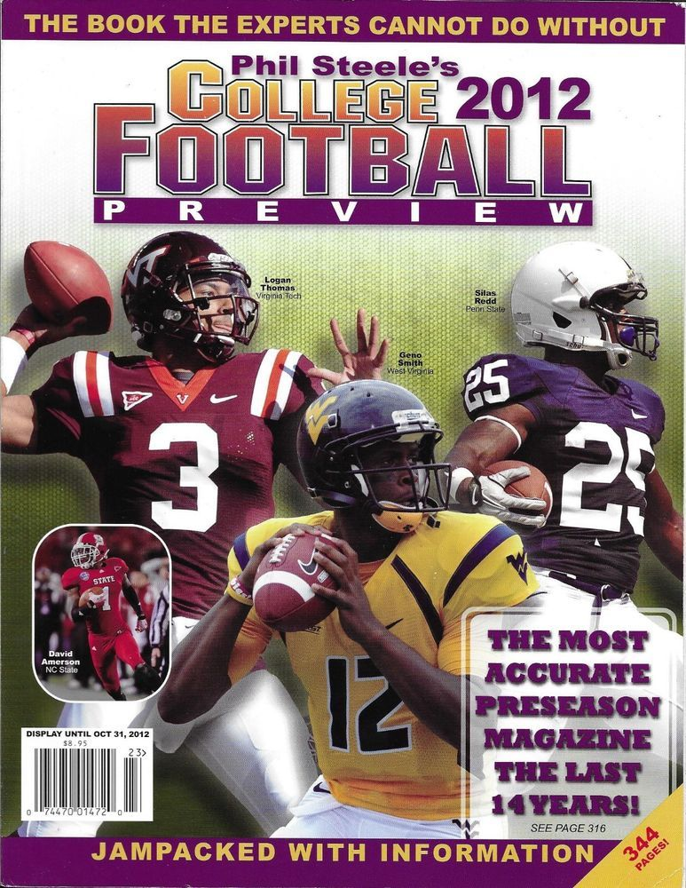 Phil Steele Pro Football Preview Magazine Nfl Fantasy Guide