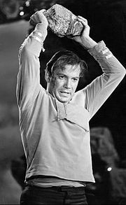 "William Shatner as Kirk in action, from the episode ""Where No Man Has Gone Before"", 1966"
