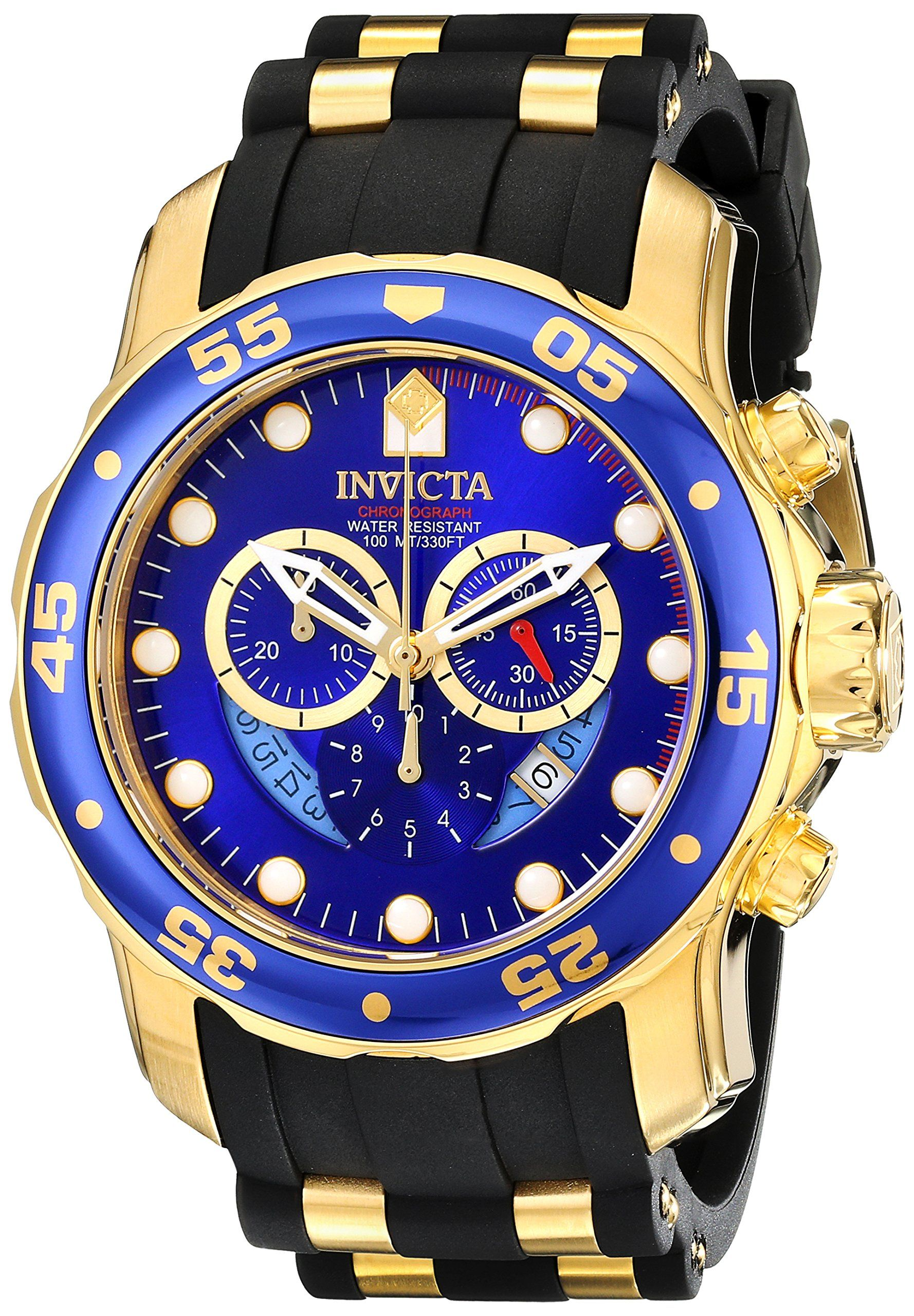 a81677913b2 Invicta Men s 6983 Pro Diver Collection Chronograph Blue Dial Black  Polyurethane Watch
