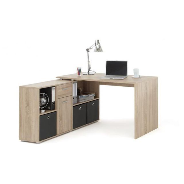 bureau d 39 angle r versible rob ch ne declikdeco prix avis notation livraison bureau d. Black Bedroom Furniture Sets. Home Design Ideas