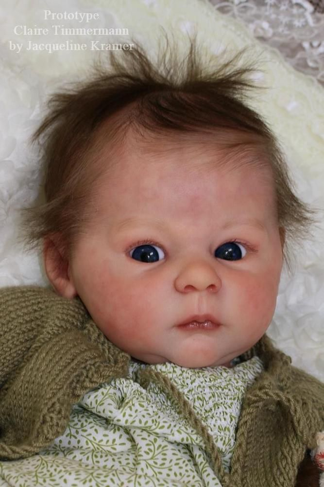 """New Release Reborn Baby Doll Kit Claire By Ann Timmerman@22""""@Body Included in Dolls & Bears, Dolls, Clothing & Accessories, Artist & Handmade Dolls 