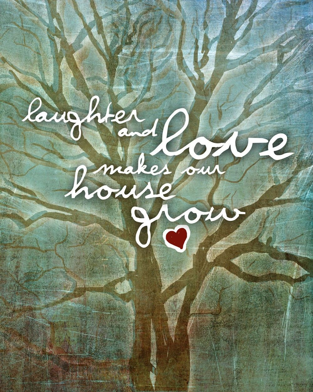 Laughter and Love / original illustration ART Print SIGNED / 8 x 10.