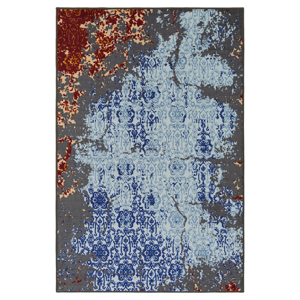 Pale blue abstract tufted accent rug uxu surya products
