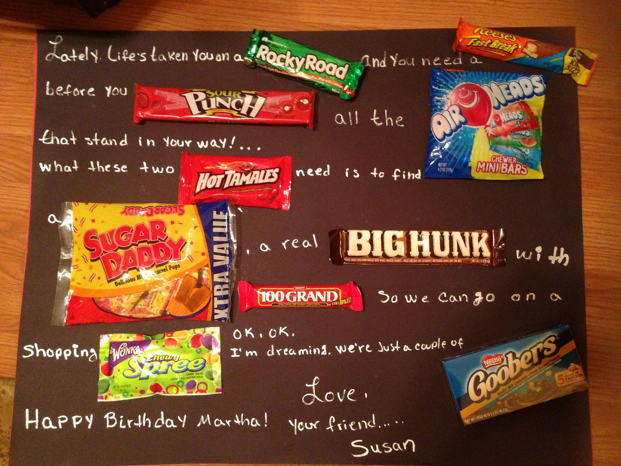 Candy bar birthday card idea file birthdays cards