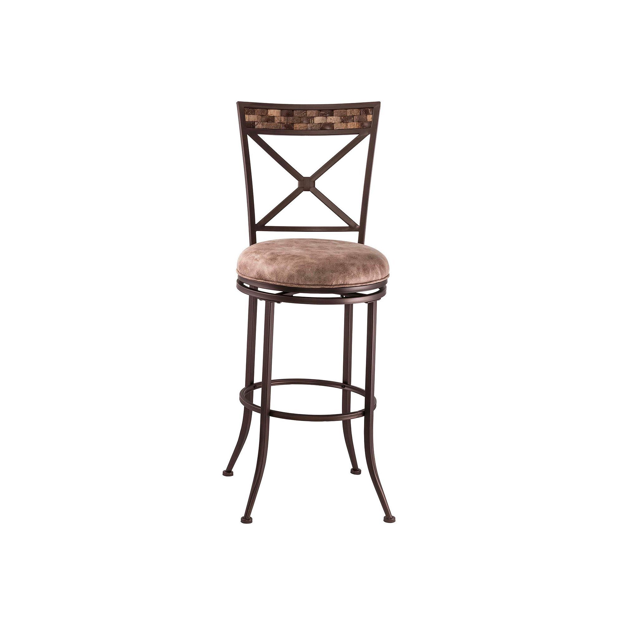 Hillsdale Furniture pton Swivel Bar Stool Brown