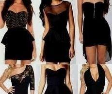 Short Black Dress Tumblr