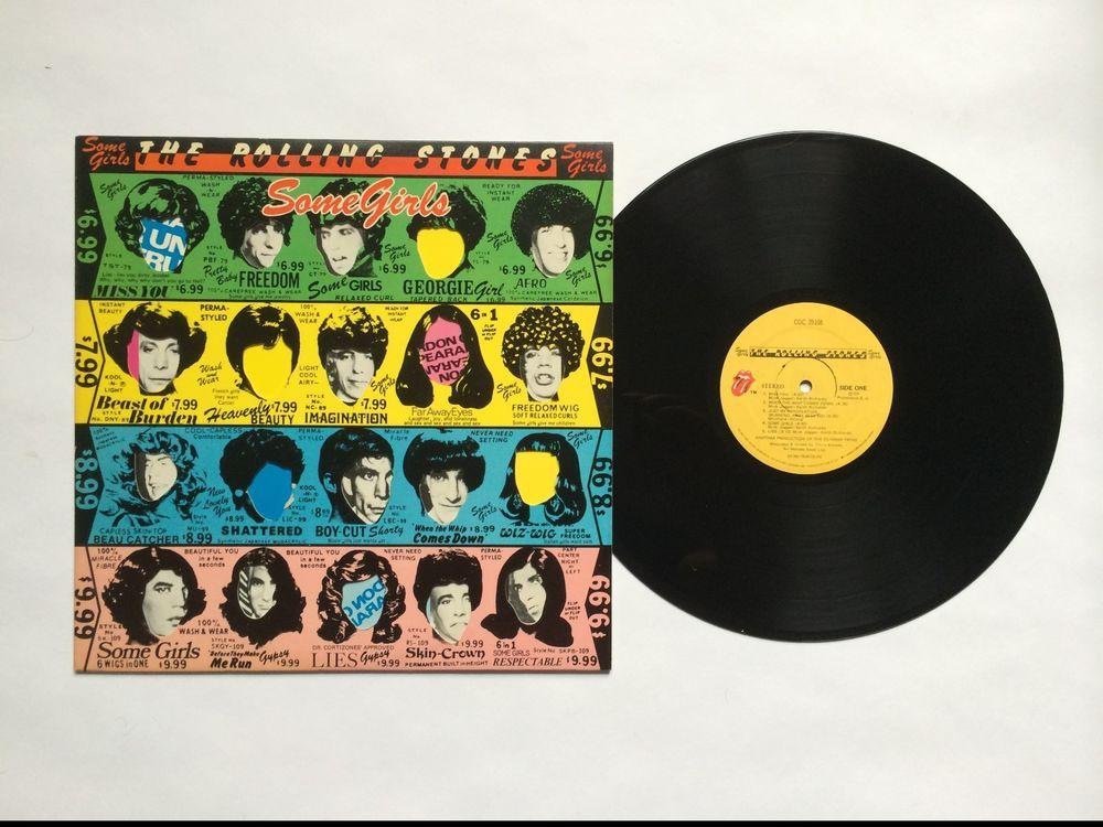 The Rolling Stones Some Girls Vinyl Record Lp Coc 39108 Rolling Stones Vinyl Rolling Stones Some Girls