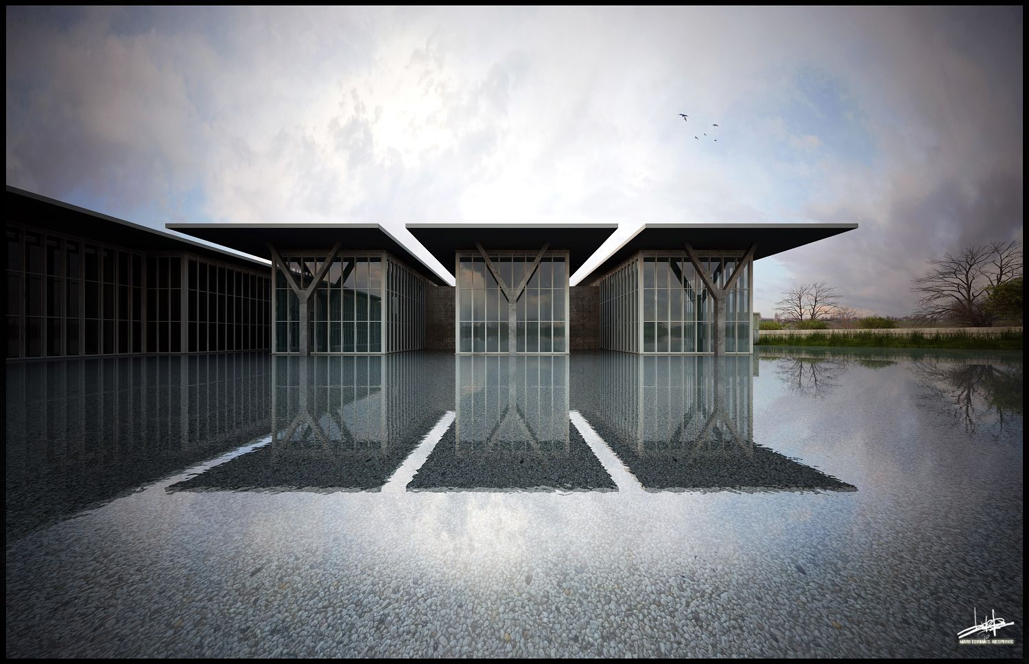 Tadao Ando Modern Art Museum Fort Worth Exterior Design Tadao Ando Architecture