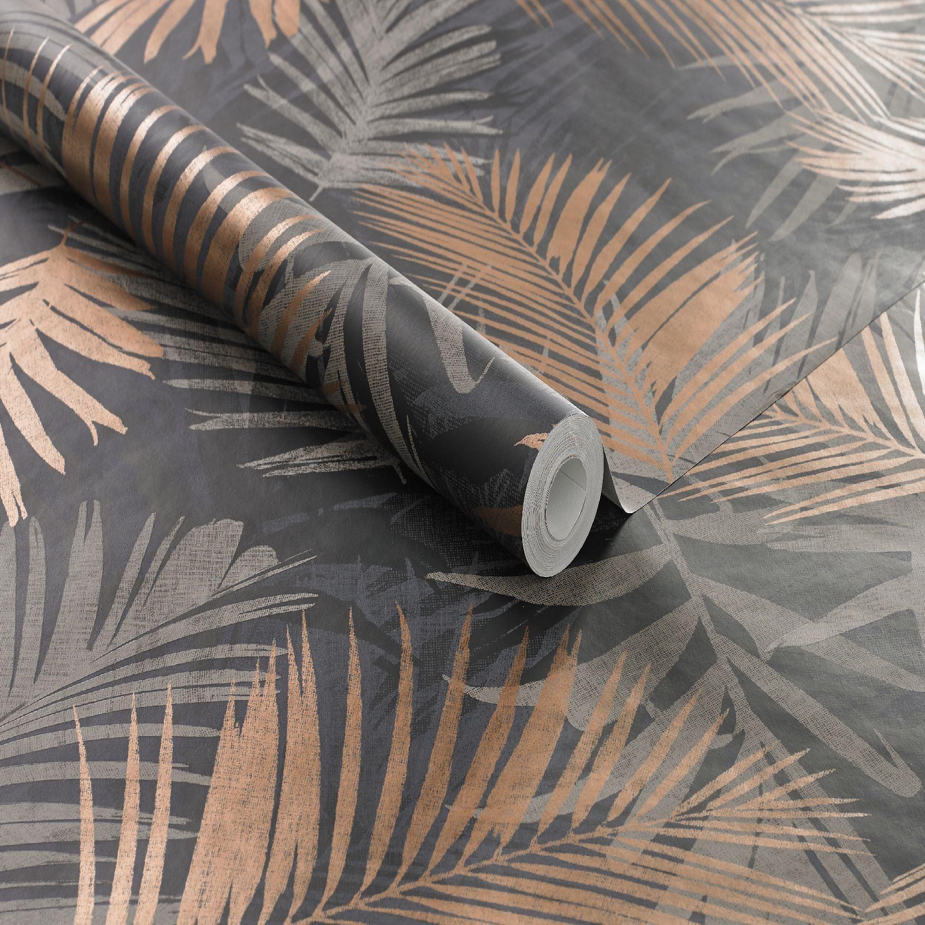 Boutique Black Gold Tropical Jungle Glam Wallpaper Amazon Co Uk Diy Tools Glam Wallpaper Jungle Wallpaper Wallpaper