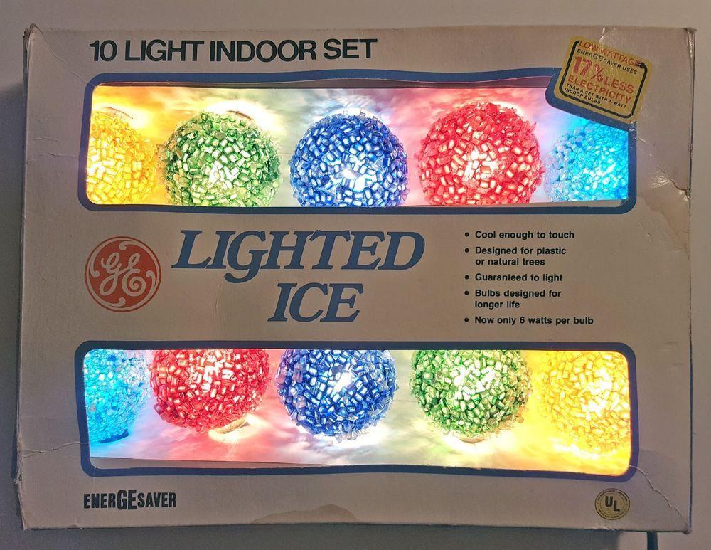 Ge Christmas Lights.General Electric Ge Lighted Ice Vintage Christmas Lights