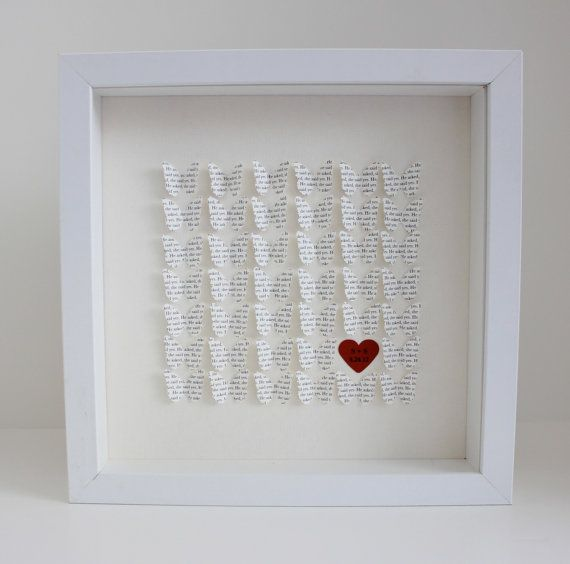 Cute Wedding Gift Ideas: Lyric Wedding Gift Frame