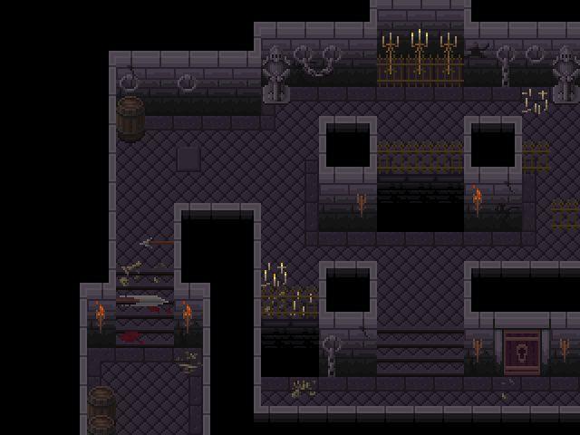 Released] 2D Pixel Top-Down Dungeon Tileset - Unity Forum   dungeon