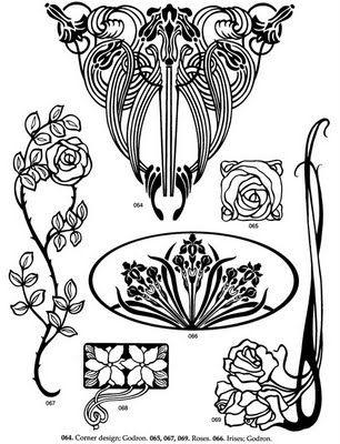 art nouveau corona flowers art nouveau design art nouveau rh pinterest com