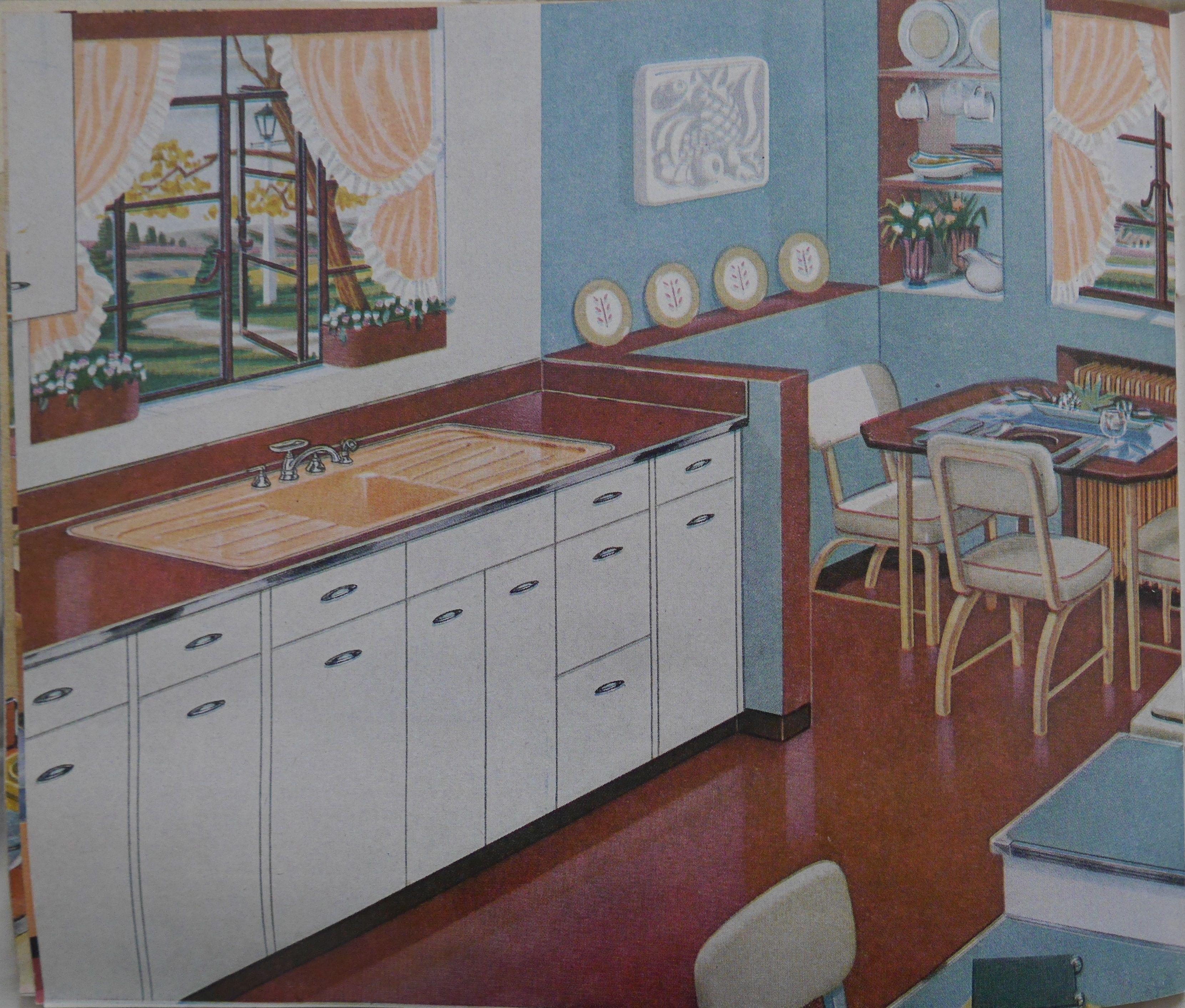 1947 American Standard Kitchen Retro Kitchen Vintage Kitchen Shabby Chic Kitchen