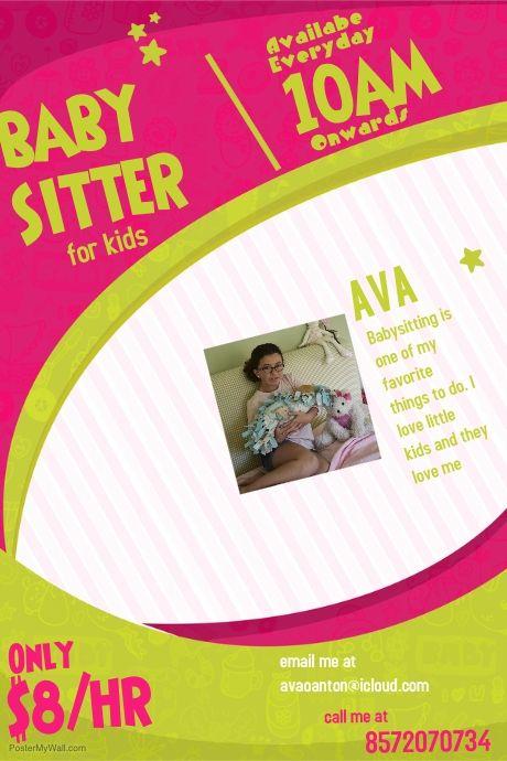 Copy of Babysitting Flyer Template babysitters Pinterest