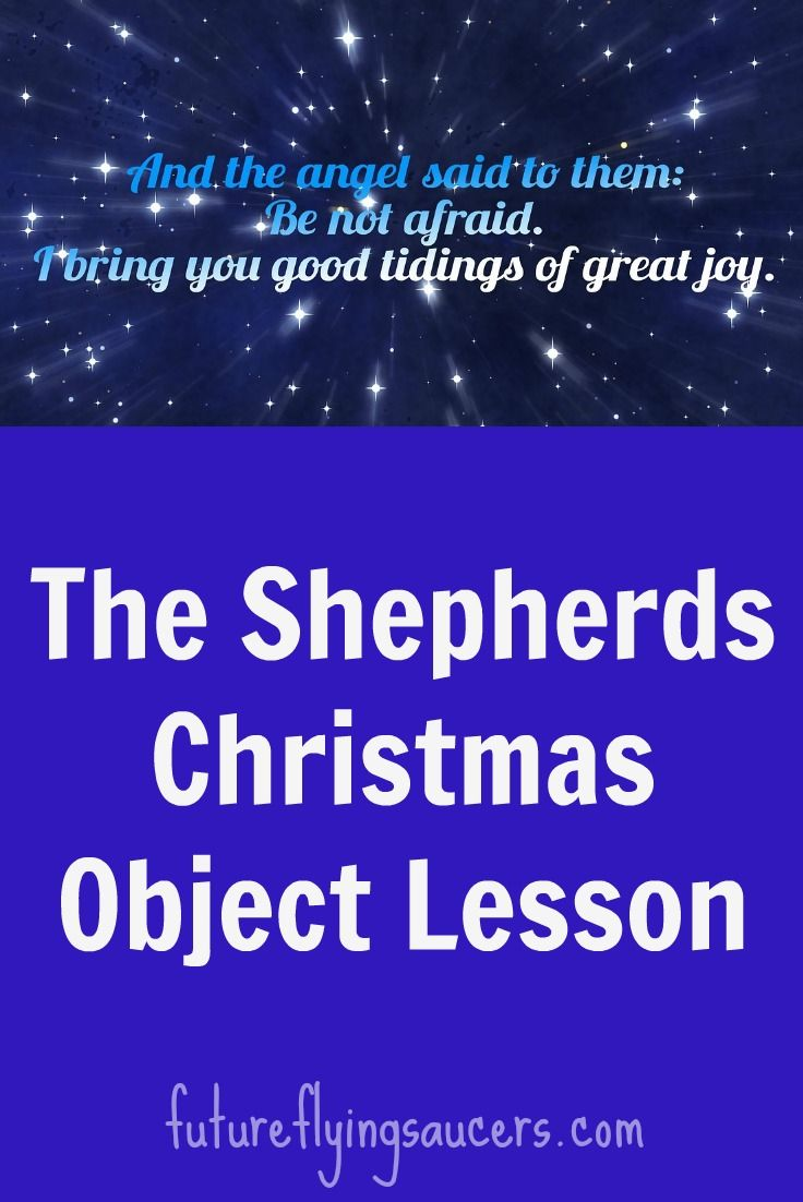 The Shepherds Christmas Object Lesson | VBS | Bible object lessons