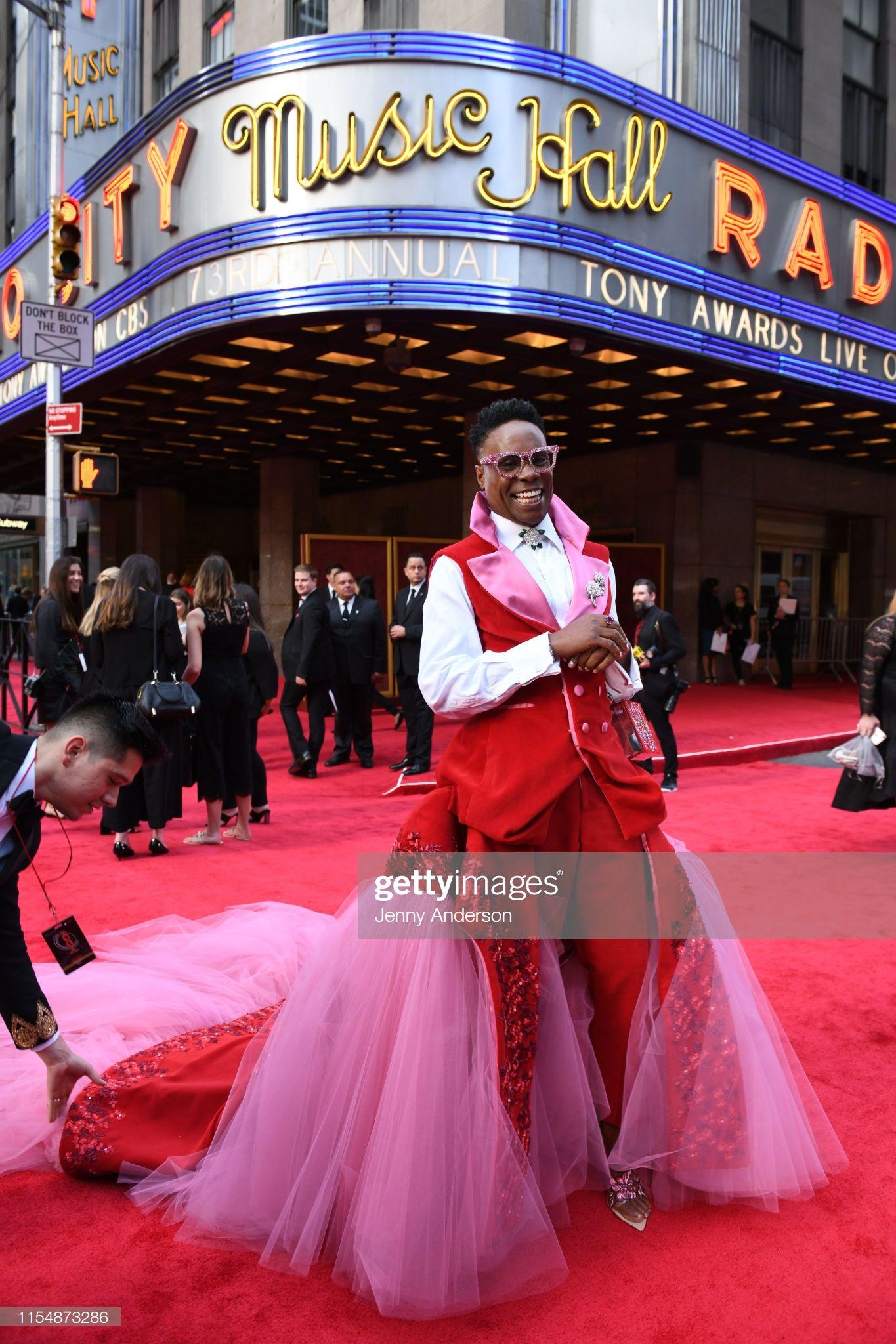 Billy Porter Attends The 73rd Annual Tony Awards At Radio City Music Tony Awards Nice Dresses Nyc Fashion