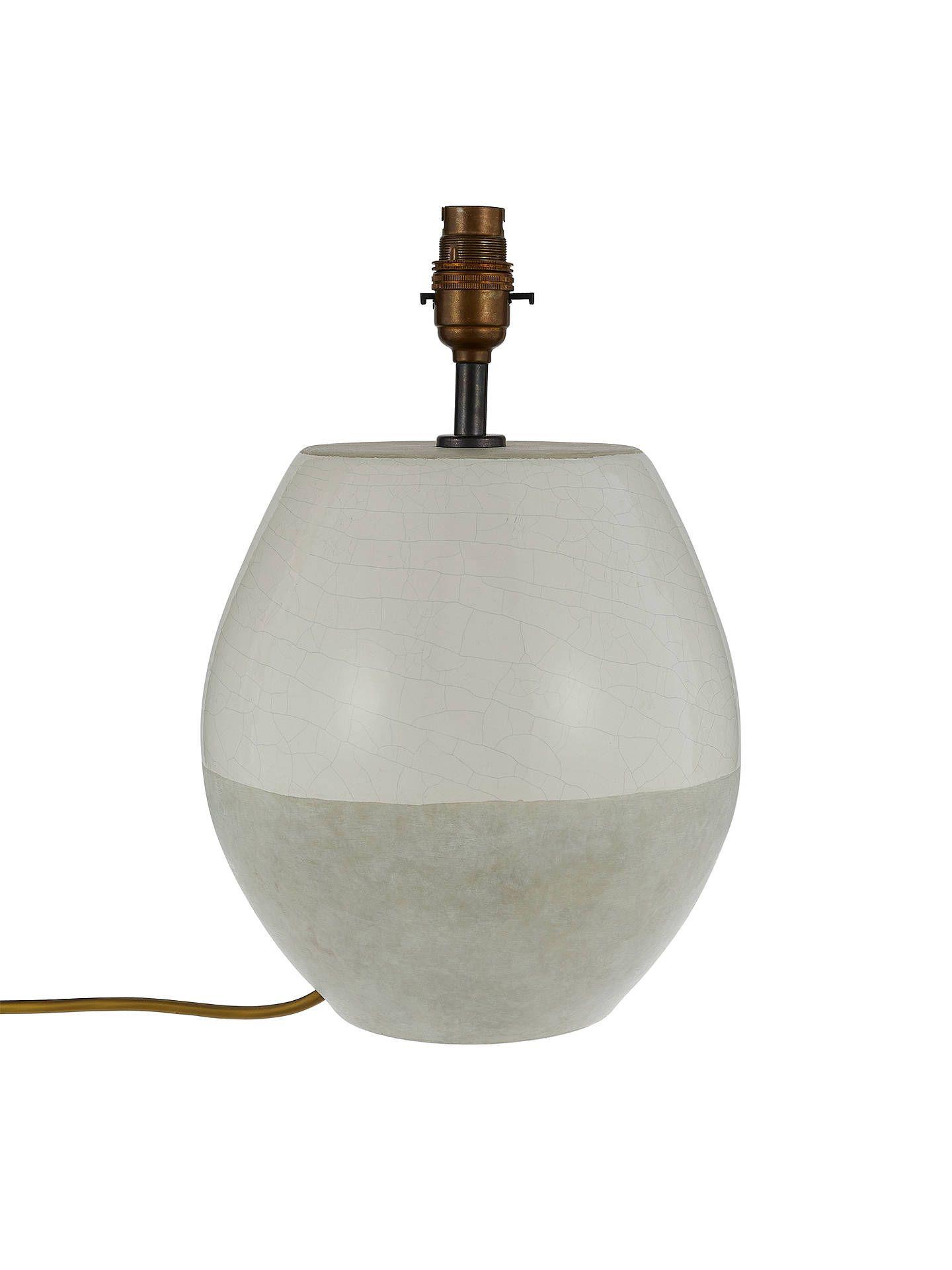Croft Collection Piper Ceramic Lamp Base, Light Grey
