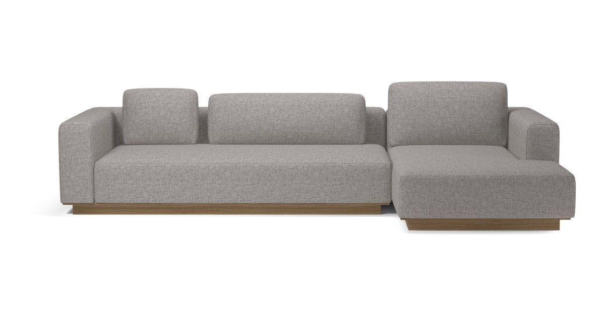 Element 2 Units With Chaise Longue Scandinavian Design Design Sofa
