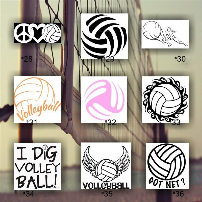 Volleyball Vinyl Decal Custom Car Window Sticker Team Sports Decal Personalized Volleyball Sticker 28 36 Sports Decals Custom Cars Car Window Stickers