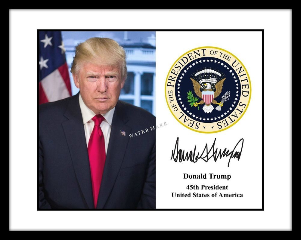 President Donald Trump Signed Presidential Seal Autograph ...