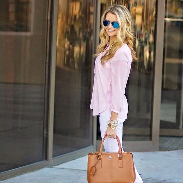 Blush is the new neutral. We're loving this effortless #NYDJ look by @BlushingBasics