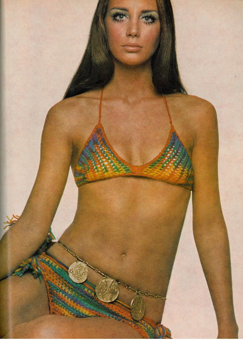 cc547e4d60c Vogue magazine. Crotchet bikini, c. 1970. | 1970s Summer Style in ...