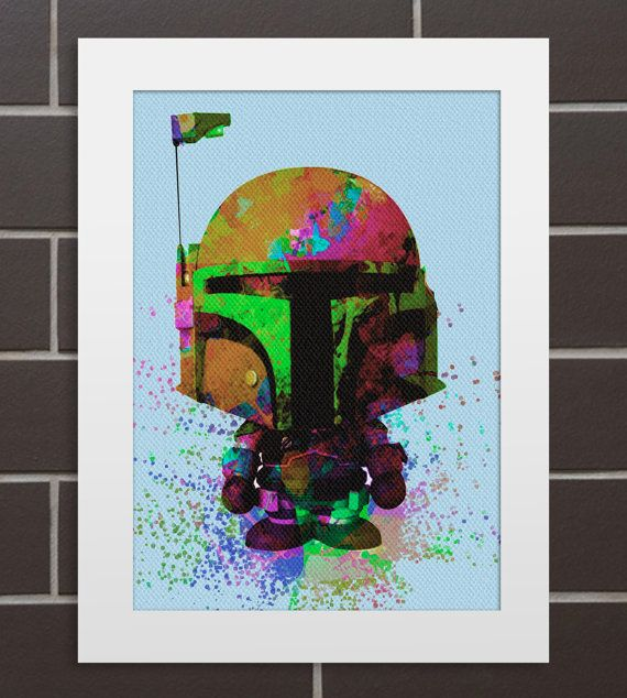 Star Wars Baby-Dusche - Aquarell Druck - Illustration Wand