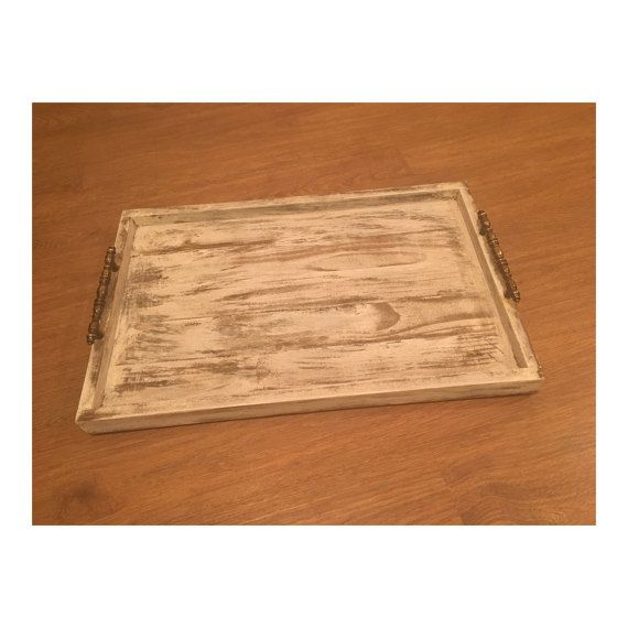 Large Decorative Serving Trays Magnificent Distressed Wood Large Serving Tray Wood Decorative Tray Rustic Design Inspiration