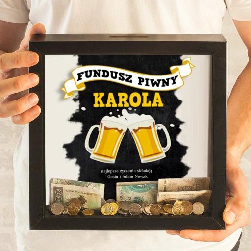 Skarbonka 3d Prezent Na Urodziny Fundusz Piwny Gifts Diy Frame